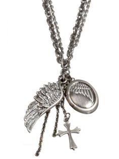 Religion Clothing Locket Necklace In Antique Silver.