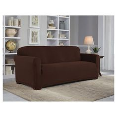 Sure Fit Stretch Pique 3 Piece T Cushion Sofa Slipcover George Nelson Style Marshmallow Three Antique 379 Products By Hayneedle Pinterest Slipcovers And