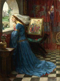 """""""Fair Rosamund"""" (1916) von John William Waterhouse (geboren am 6. April 1849 in Rom, gestorben am 10. Februar 1917 in London), britischer Maler."""