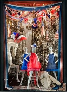 Bergdorf Goodman's Fifth Avenue windows in New York celebrated the Fourth of July with a tribute to the history of the U.S. flag.View Image Details