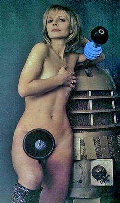 "1977 - Playboy magazine - Katy Manning as ""Jo Grant"", Doctor's companion, and a Dalek. United Nation Organisation, Kipper The Dog, Avant Garde Film, Jon Pertwee, Classic Sci Fi, Dalek, Dr Who, Popular Culture, Portrait"