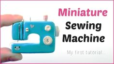 Hi everyone! this is my first poymer clay tutorial. i made a miniature sewing machine and i really wanted to share it with you. The pattern for the basic sha...