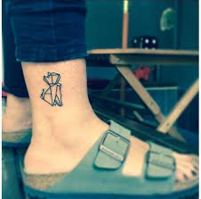 Image result for origami cat tattoo