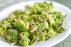 Parmesan Roasted Broccoli recipe: Amazing, easy side dish. Tasty too!