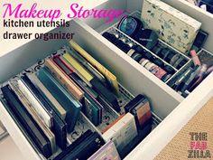 TheFabZilla: Makeup Storage Idea: Think Outside The Kitchen!