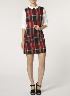 Photo 2 of red check 2in1 pinny dress