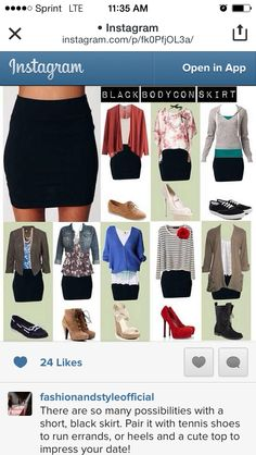 Sweet ideas for a simple black skirt Pinning for use the next time I wear my black pencil skirt!  sc 1 st  Pinterest : black skirt costume ideas  - Germanpascual.Com
