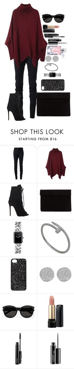 """""""Untitled #1322"""" by fabianarveloc on Polyvore featuring Vivienne Westwood Anglomania, Giuseppe Zanotti, Chanel, Marc by Marc Jacobs, Karen Kane, Yves Saint Laurent, Lancôme and MAC Cosmetics"""