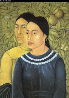 Two Women by Frida Kahlo. - ̗̀niña de arte ̖́- pinterest: @artsywalnut