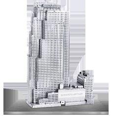 Metal Earth 30 Rockefeller Plaza 3D Laser Cut Model Fascinations 010619