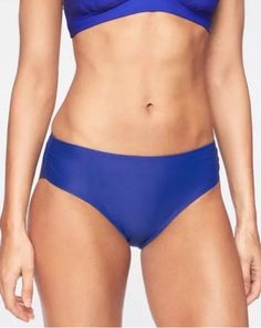 Dress Blue retail $54 Size L NWT Athleta High Waist Bikini Bottom//Swim