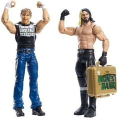 WWE Wrestling Battle Pack Series 36 Dean Ambrose and Seth Rollins Action Figure [Money in the Bank Briefcase] Wwe Action Figures, Custom Action Figures, Figuras Wwe, Tamina Snuka, Wwe Toys, Wwe Elite, Money In The Bank, Dean Ambrose, Backyard For Kids