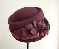 womens wool cloche winter felt hat wool by IfTheHatFitsByJackie, $48.00