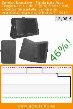 """Samrick Executive - Funda para Asus Google Nexus 7 de 7"""" (piel, función atril, protector de pantalla, gamuza de microfibra) negro negro Nexus 7 - 2012 (Accesorio). Baja 46%! Precio actual 13,08 €, el precio anterior fue de 24,19 €. http://www.adquisitio.es/samrick/executive-funda-asus-1"""