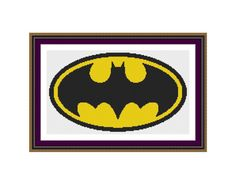 Counted cross stitch pattern Batman LogoInstant by XStitchLogo