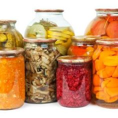 15 fermented food recipes including whey and cottage cheese, berry preserves, apricot butter, sweet potato, bean paste, carrot sticks, pickled cucumbers, sauerkraut, orange marmalade, raisin chutney, preserved lemon, mango chutney, veggie medley