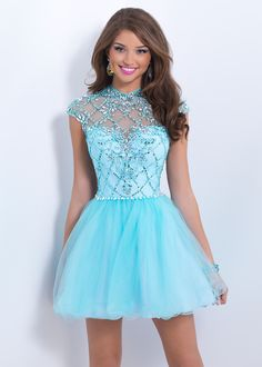 Blush Prom 9856 Sparkly Party Dress