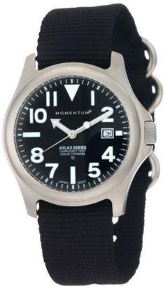 "Momentum Men's 1M-SP00B8B ""Atlas"" Titanium Watch with Nylon Band  Best Buy  in 2015 | Pegaztrot Buyer Friend"