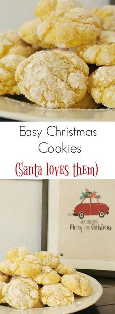 Easy Christmas Cookies that Santa Loves!