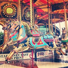 Full colour vintage carousel - totally beautiful.