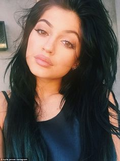 Tumbling: Kylie posted a pouty Instagramn shot alongside the caption: When your weave blow...