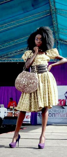 African print kitenge dress