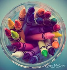 Childhood memories :) Crayons and coloring books!