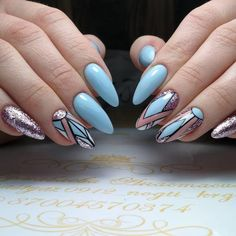 Do you like modern geometric style? #nails #modern #geometric #manicure #art #inspiration