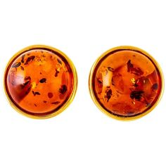 Be-Jewelled Amber Round Stud Earrings ($55) ❤ liked on Polyvore featuring jewelry, earrings, amber jewelry, amber jewellery, jeweled earrings, jewel earrings and earring jewelry