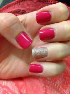 Valentines shellac nails