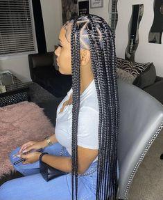 Big Box Braids Hairstyles, Braids Hairstyles Pictures, Braided Hairstyles For Black Women, Baddie Hairstyles, Weave Hairstyles, Girl Hairstyles, Cornrows Braids For Black Women, Black Girl Braids, Braids For Black Hair