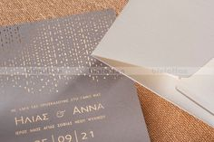 Biniatian Gold Foil modern chic wedding invitations