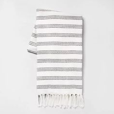 X Stripe Summer Throw Blanket Sour Cream / Black - Hearth Hand™ With Magnolia : Target Faux Fur Throw, Black Bedding, Knitted Throws, Sour Cream, Hearth, Magnolia, Target, Summer, Verano