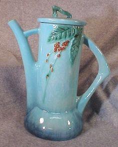 Roseville blue Wincraft coffee pot