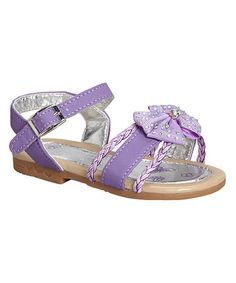 This Purple Studded Bow Sandal is perfect! #zulilyfinds