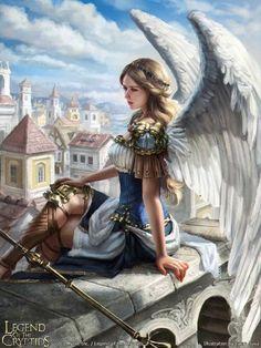 fantasy, art, and fairy Bild Fantasy Girl, Fantasy Art Angels, Fantasy Warrior, Fantasy Women, Fantasy Artwork, Fantasy Fairies, Fantasy Inspiration, Character Inspiration, Character Art