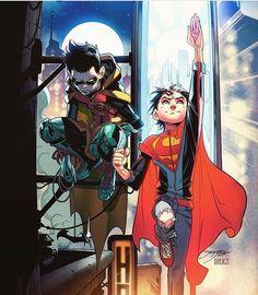 Damian Wayne & Jon Kent / eu amo esses dois tanto aaa <3