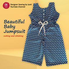 Baby Dungarees, Baby Jumpsuit, Jumpsuit Dress, Kids Frocks Design, Baby Frocks Designs, Baby Summer Dresses, Baby Dresses, Baby Girl Dress Design, Baby Design