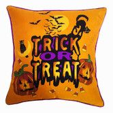 Found it at Wayfair - Holiday Elegance Trick or Treat Silk Pillow