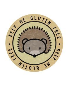 Woodland Hedgehog – Keep Me Gluten Free Stickers – x18