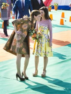 Dutch Princess Aimee (L) and Princess Anita attend King's Day 2014 in De Rijp, Netherlands.