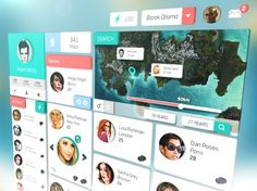 ui design, social network, dating, main page