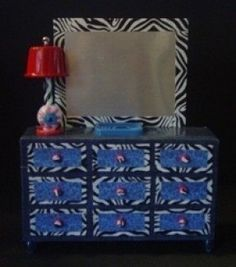 Different DIY doll house furniture at this website (for monster high and ever after high dolls)
