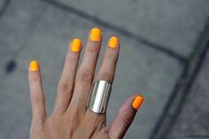 Nails summer nails orange nail art