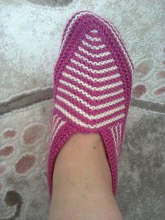 haroşodan çizgili patik örüyoruz - Patik-Çorap Etkinlikleri