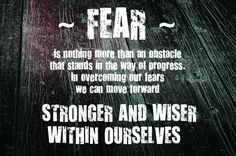 Quotes for Motivation and Inspiration Fear