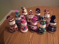 Some of my sock snowmen