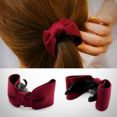 Apparel Accessories Sincere Korean Cherry Red Bowknot Flower Elastic Rubber Hair Band Rope Plastic Hair Clips Hairpin For Women Girls Kids Hair Accessories Girl's Accessories