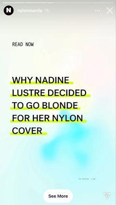 Photoshoot Bts, Nadine Lustre, Magazine, Reading, Cover, Magazines, Reading Books, Warehouse, Newspaper