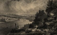 view of newcastle 1820's
